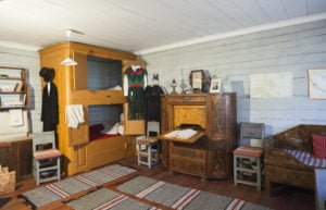 Interior in the exhibition cottage