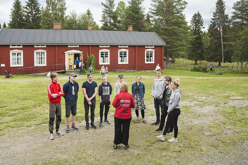 Guided tour at Open-air museum Hägnan